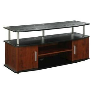 Convenience Concepts Designs2Go Monterey TV Stand, Cherry/Black - 151401