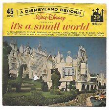1966 45 RPM Record ~ IT'S A SMALL WORLD ~ Walt Disney Little Gem Record, LG-775