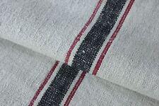 GRAINSACK GRAIN SACK RED BLACK hemp homespun linen vintage bag