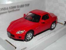 "Honda S2000 Hard Top Red Die Cast Metal Model Car 5""   New In Box"