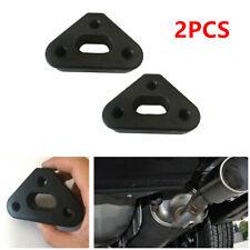 2Pcs 3 Holes Rubber SUV's Car Exhaust Tail Pipe Mount Bracket Hanger Insulators