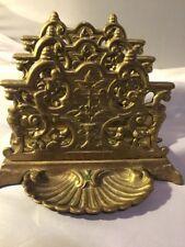 Vintage Brass Ornate Art Nouveau Letter Holder