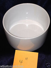 "SERENA BASS SIX EASY PIECES 4"" ROUND ALL WHITE SERVING BOWL 12 OUNCE CAPACITY"