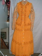 Western Dress Prairie Costume Victorian Edwardian Civil War Reenactment Cowgirl