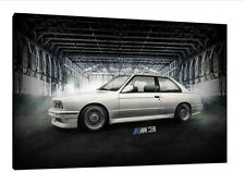BMW E30 M3 - 30x20 Inch Canvas - Framed Picture Print Wall Art Classic Poster