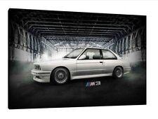 BMW E30 M3 30x20 pulgadas enmarcado cuadro lienzo-Impresión Pared Arte Cartel Clásico
