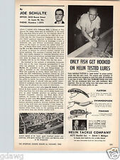 1960 PAPER AD Helin Fishing Lure Flatfish Swimmerspoon Fishcake Spoon Detroit