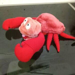 """Vintage Little Mermaid Sebastian Crab 8"""" Plush Stuffed Animal Applause Disney"""