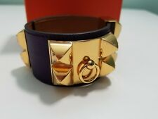 HERMES COLLIER DE CHIEN (CDC) ULTRAVIOLET, SWIFT LEATHER, S, GOLD HARDWARE