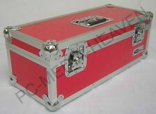"7"" Singles Red Vinyl Record Aluminium DJ Flight Storage Carry Case Box 300 Tough"