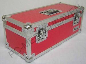 "7"" Singles Red Vinyl Record Aluminium DJ Flight Storage Carry Case Box 300 Tough"