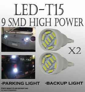 4 pieces T15 LED Super Bright White Rear Parking Light Lamps Replacement S131