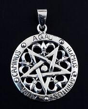 Pendentif pentacle heraldique bijou ésotérique pentagramme Argent 925 8g 25448