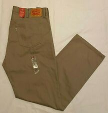 NWT,Men's Levi's 559 Relaxed Straight Fit 5 pocket jeans Pant- khaki - 42 x36