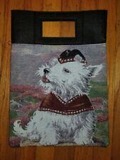 West Highland White Terrier Westie Dog tapestry purse book computer bag ltd ed