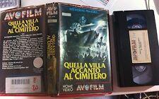 VHS QUELLA VILLA ACCANTO AL CIMITERO di Lucio Fulci [AVOFILM] RARO