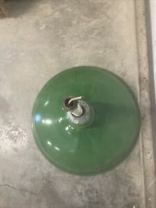 """(1)  16""""  vintage Porcelain Green Barn-Industrial-Gas Station Light-Benjamin?"""