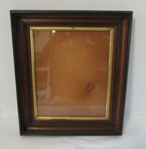 Antique 1870's Wooden Picture Frame Gold Gilded Liner Shingle Back