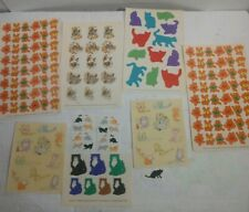 Vintage 80s 90s Cat Stickers Mrs Grossman's Sandylion Lot
