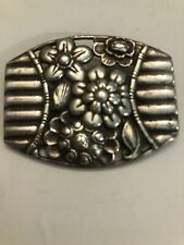 sterling silver brooch pin Floral Design From Prague