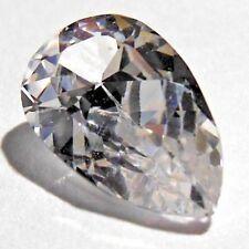 Pear 6 x 10 mm Rare 2 ct VVS White Sapphire Diamond Brilliant Solitaire Stone