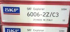 8X 6006-2Z/C3 Skf Deep Grove, Single Row, Ball Bearings 30X55X13 (mm)