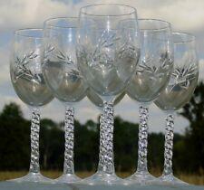 Service de 6 verres à eau en cristal d'Arques, modèle Epi Fleury