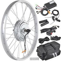 "36V 750W 24"" Front Tire Electric Bicycle e-Bike Conversion Kit Cycling Hub"