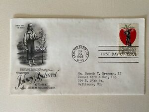First Day of Issue Sept. 24, 1966 Johnny Appleseed American Folk Series UNSEALED