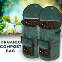 Portable Organic Compost Bag Garden Fertilizer Fruit Planter Waste Bin Collector