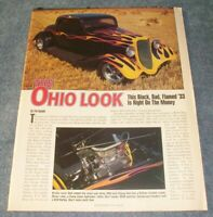 "1933 Ford 3-Window Coupe Vintage Hot Rod Article ""The Ohio Look"""