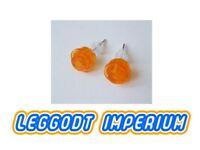 LEGO Custom Stud Earrings - Transparent Orange - FREE POST