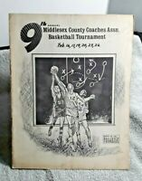 1973 Middlesex New Jersey Basketball Tournament Program Yearbook vintage