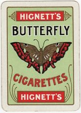 Playing Cards 1 Single Swap Card Old Wide HIGNETTS BUTTERFLY CIGARETTES Tobacco