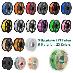 3D Drucker Filament ABS PLA+ SILK PLA PETG 1KG Rolle 1,75mm Printer Spule