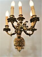 French Antique 19th Century Bronze Wall Sconce
