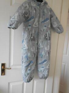 Boys Grey  all in one Coat * age 4 - 5 years * Tu * VGC