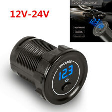 Mini Motorcycle Car 12V-24V LED Panel Display Voltmeter With Independent Switch