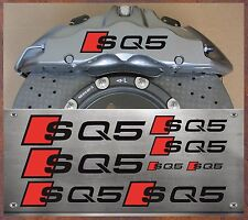 8 Stück Audi SQ5 Bremssattel Aufkleber Sticker Hitzebeständige Q5 R8 S4 S5   IX