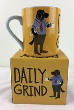 NEW Daily Grind Black Lab Dog w Newspaper at Office Coffee Mug Little Blue House