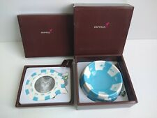 Ceramic Blue White Cat Bowl and Picture Frame With Charms Gift by Papyrus