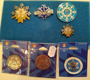2002 Salt Lake Winter Olympics 7 Pin Set - Snowflakes