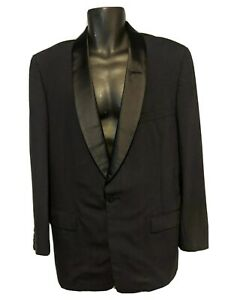 Hart Schaffner Marx Wallachs black vintage 1950s mens tuxedo jacket see measures