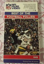 BEST OF THE FOOTBALL FOLLIES VHS TAPE - NFL SPORTS HOSTED BY STEVE SABOL NR