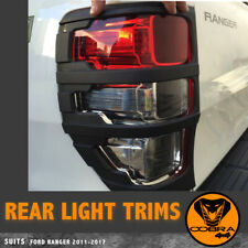 Suits Ford Ranger PX1 PX2 PX3 MATT Black Tail Light Cover Protector 2012-2019