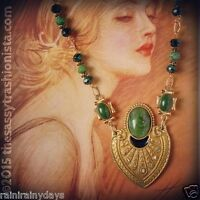 Upcycled Vintage Jewelry, handcrafted, OOAK, necklace, Etruscan Revivial Style