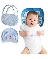 Flat Head Baby Pillow Prevention - VERSATILE & SAFE I 2 BONUS Bibs & 1 BONUS