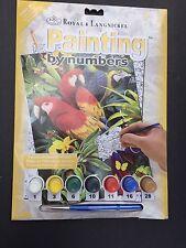 """Paint By Number Kit 8.75""""X11.75"""" Majestic Macaws Parrots PJS83-3T"""