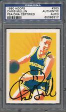 1990/91 Hoops #363 Chris Mullin PSA/DNA Certified Authentic Auto Autograph *5317