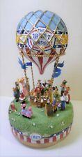 Vintage Liberty Falls Airship Music Box Hot Air Balloon Plays Up Up & Away Ah555